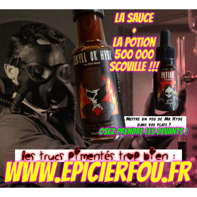 Jekyll Or Hyde Sauce pimentée + Potion