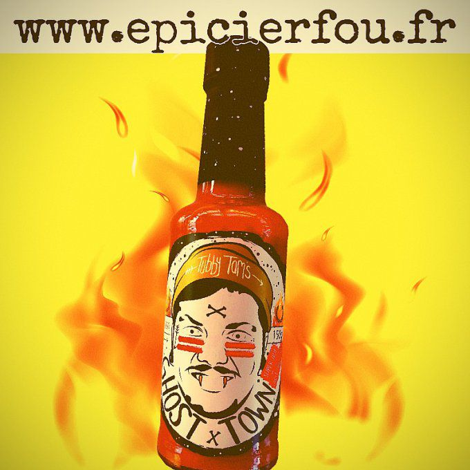 Ghost Town Sauce piquante forte Naga