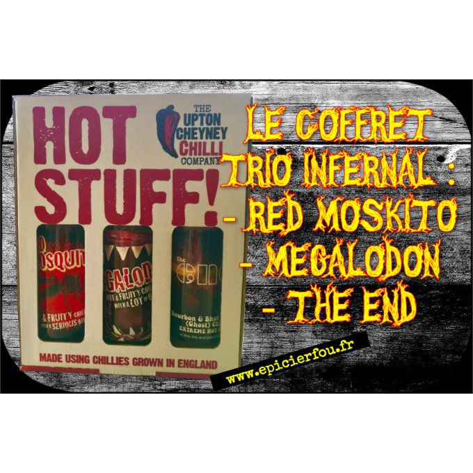 Pack TRIO INFERNAL sauces piquantes fortes artisanales