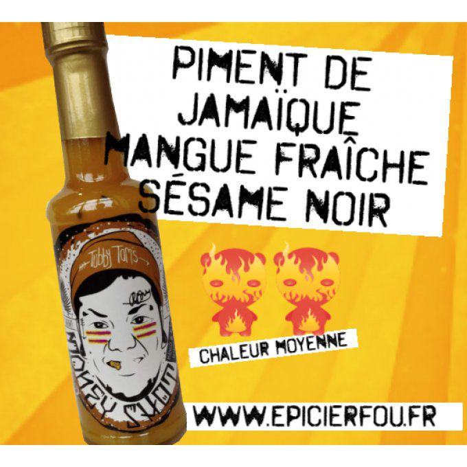 Money $hot sauce piquante mangue et sésame noir