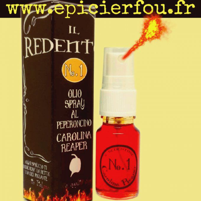Spray Huile Taggiasca Piment Carolina Reaper